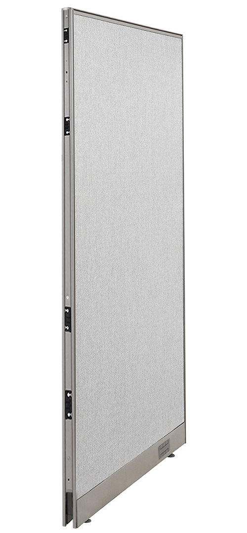 GOF Single Office Partition, Large Fabric Room Divider Panel, Custom Built Workstation 36'' W x 72'' H