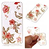 Aipyy Huawei P10 Lite Case,Transparent Pattern Soft TPU material back cover case for Huawei P10 Lite-Azalea