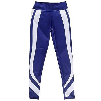 10ee76c4aa Homyl Women's Stripe Splice Heart Shaped Fitness YOGA Leggings Sports Pants  Trousers - Blue, ...