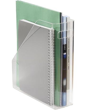 mDesign - Organizador de escritorio, para artículos de oficina; guarda carpetas de archivo,