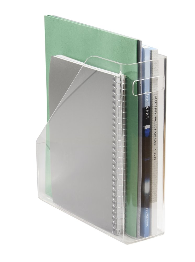 mDesign Office and Desk Storage, File Folder and Notebook Organizer - Clear