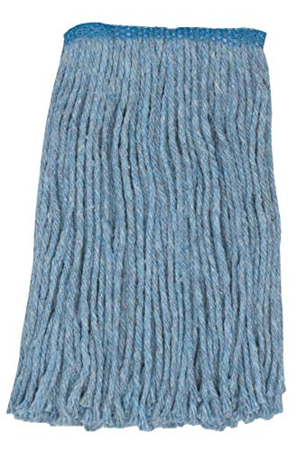 Wilen A427124, Go Go Blend Cut-End Mop, #24 Size, 1.25'' Tape Band, Blue (Case of 12)