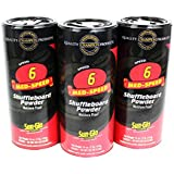 Sun-Glo 3 Pack 2 Speed Tournament Gold Shuffleboard Powder