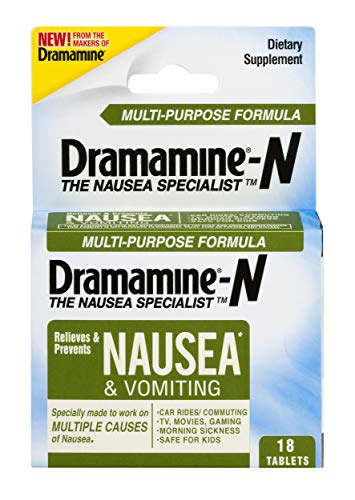 Dramamine-N Multi-Purpose Formula Nausea Relief | 18 Count | 2 Pack