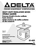 Delta 31-483 Heavy Duty Oscillating Bench Spindle Sander Instruction Manual Reprint