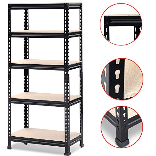 Topeakmart 5 Tier Storage Rack Heavy Duty Shelf Steel Shelving Unit