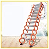 Aluminum Alloy Household Retractable Ladder for Loft Home Folding Step Ladder Attic pulldown