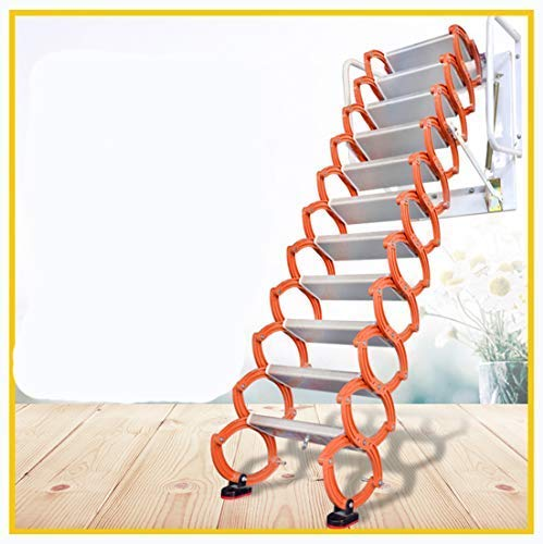 Aluminum Alloy Household Retractable Ladder for Loft Home Folding Step Ladder Attic pulldown Ladder Hinge