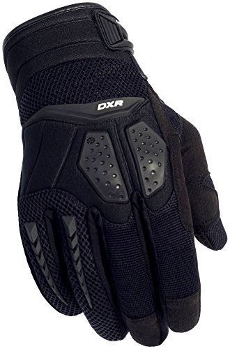 Cortech Men's DXR Textile/Leather Motorcycle Gloves (Black, XXX-Large)