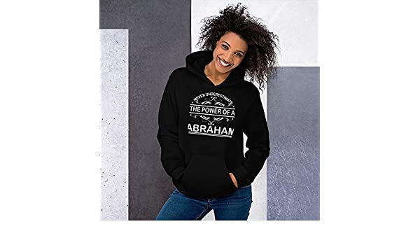 Never Underestimate The Power of Abraham Hoodie Black