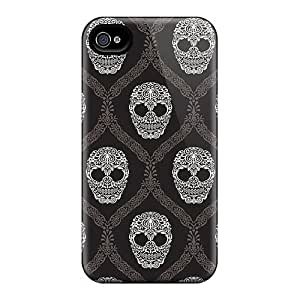 Hot Covers Cases For Iphone/ 6 Cases Covers Skin - Artistic Skull Pattern