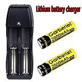 vape 2000 mah - 2PCS Rechargeable Li-ion 3.7V 18650 Battery& Dual Smart Charger for Flashlight(NOT AA or AAA Battery)