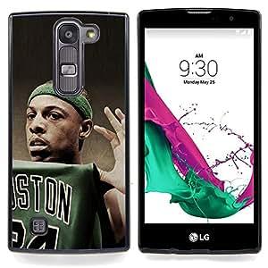 """Boston Baloncesto"""" - Metal de aluminio y de plástico duro Caja del teléfono - Negro - LG Magna / G4C / H525N H522Y H520N H502F H500F (G4 MINI,NOT FOR LG G4)"""