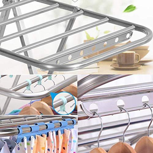 Alato Stendibiancheria A Profilo Taglia Unica Interni B Acciaio Inox Con Per colore In A Dimensione Yingsssq Pieghevole Alare ERxdRq