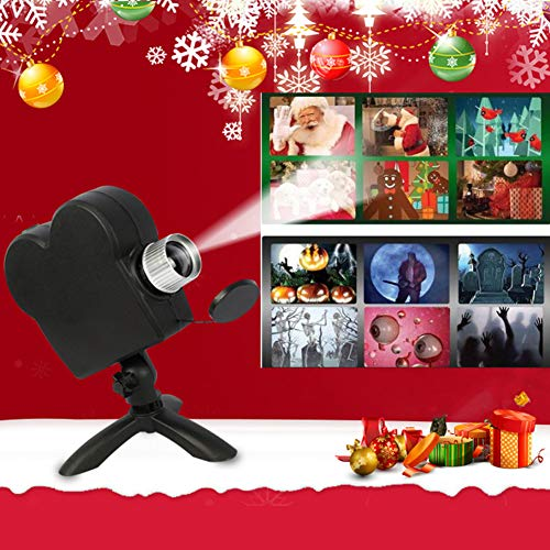 12 Movies Festival Projection Light Lamp,Outdoor/Indoor Christmas Halloween Decorations ()