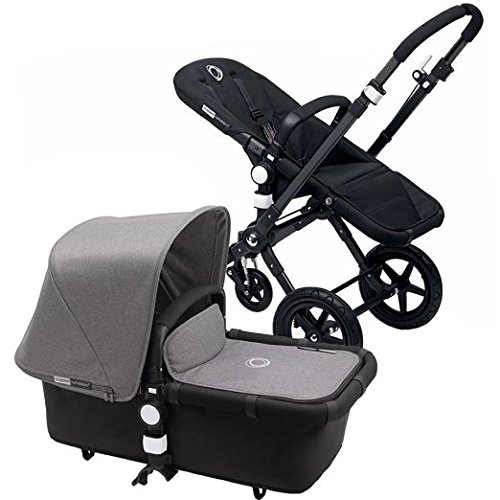 Bugaboo 2015 Cameleon 3 Stroller With Extendable Canopy, All Black/Grey Melange by Bugaboo