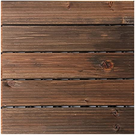 Floor GY Suelo de Madera, Suelo Exterior de Madera Maciza Anticorrosión, Patio Jardín Madera Maciza Mosaico Suelo Balcón Baño Cuadrado Suelo de Madera Antideslizante Tamaño: 29292,5 cm: Amazon.es: Hogar