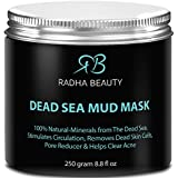 Radha Dead Sea Mud Mask 8.8 oz - THE BEST natural facial treatment and cleanser - Minimizes face Pores, Reduces Wrinkles, Helps with Acne and Improves Overall Complexion