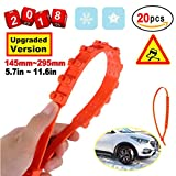 zip ties tightener - Anti-Skid Chains Snow Chains New Universal Emergency Anti-Slip Tire Belting Straps Cable Traction Wire for Car/SUV Winter Tyres Wheels Aid Autocross Outdoor in Snow Ice Mud Situation(20Pcs)