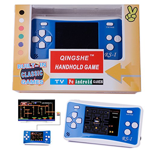 QINGSHE Retro Handheld Game Console for Kids,Classic Arcade Video Gaming System Playstation, 2.5