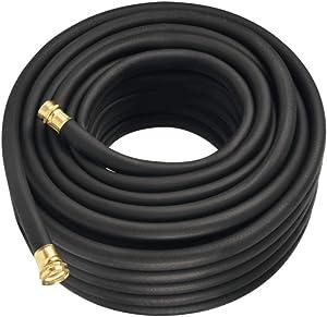 Flexon PH12100CN Premium Rubber Garden Hose, 100ft, Black