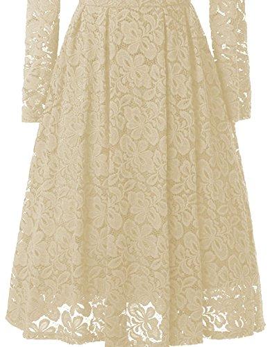 Kleid beige spitze lang