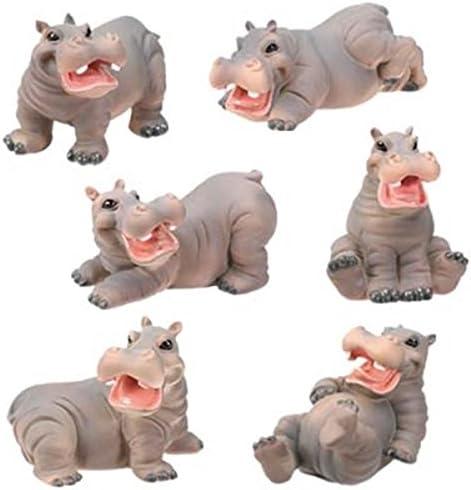 Tiny Hippo Gift Animal Figurine Hippopotamus ceramic sculpture Small animal miniature Hippo Art Items Gift for hippo lover Newborn boy girl