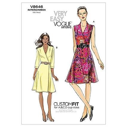 Vogue Patterns V8646 - Patrones de costura para vestidos de mujer (talla AA: 36