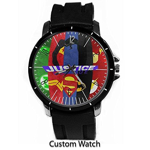 DC+Comics+Watch Products : Dc Comic Superhero Justice League Cartoon Custom Watch Rubber Band Wrist Watch