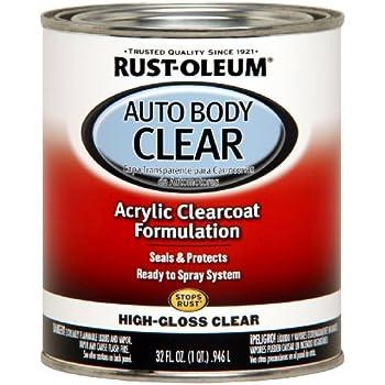 Rust-Oleum Automotive 253522 32-Ounce AutoBody Paint Quart, Gloss Clear Coat