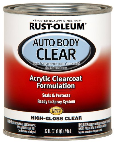Clear Coat Car Paint - Rust-Oleum Automotive 253522 32-Ounce Autobody Paint Quart, Gloss Clear Coat
