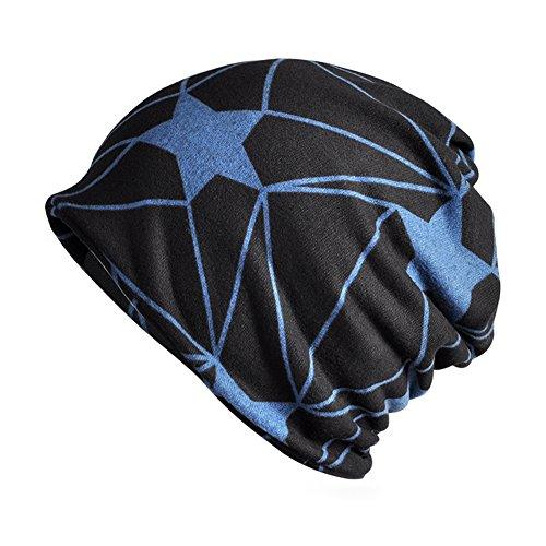 starlit Unisex Star Pattern Printing Autumn Slouchy Beanie Cool Fashion lightweight Scarf Cap ()