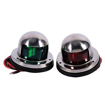 LED Signalleuchten Navigationslicht Edelstahl grün /& rot 12V Seitenlicht Leuchte