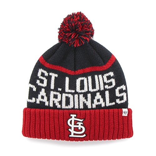 St Louis Hat (MLB St. Louis Cardinals '47 Linesman Cuff Knit Hat with Pom, One Size Fits Most,)