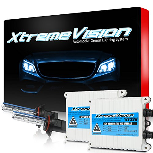 XtremeVision 35W AC Xenon HID Lights with Premium Slim AC Ballast - 9006 5000K - 5K Bright White - 2 Year Warranty