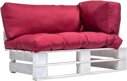 UnfadeMemory Sofa Palets Exterior de 2 Plazas y Cojines,Sofá de ...