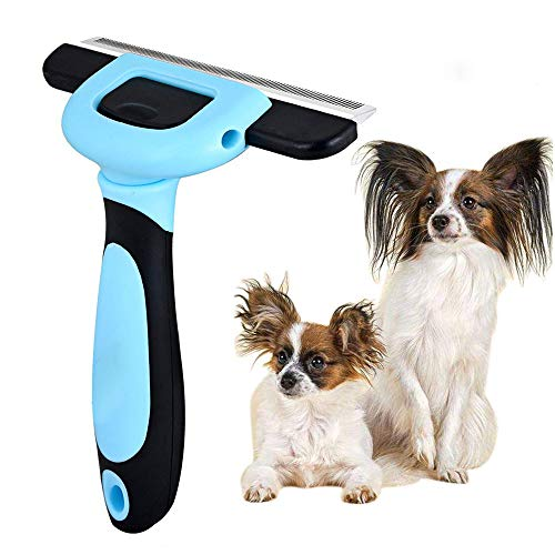 VAXIUJA Pet Grooming Brush, Shaving Comb Farewell Pain Effectively Reduces 95% of Professional Hair Removal Tools,Cat and Dog Massage Brush ()