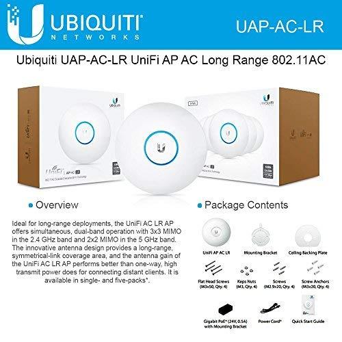 Ubiquiti UniFi UAP-AC-LR Long Range 802.11ac Access Point Gigabit PoE by Ubiquiti Networks