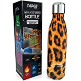 Tadge Goods Insulated Stainless Steel Water Bottle - Endangered Species Edition - Metal Thermo Style Bottles Great for Sports, Gym, Kids - Keeps Drinks Hot & Cold - 4 Sizes