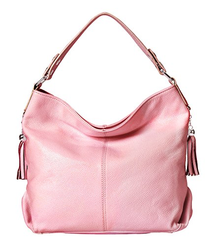 Pink Leather Handbags - 1