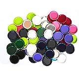 (US) IGOGO 100 Pcs Mixed Colors Bottle Caps Craft Bottle Stickers for Hair Bows Pendants Scrapbooks 1 Inch (10colors x 10pcs))