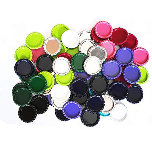 IGOGO 100 Pcs Mixed Colors Bottle Caps Craft Bottle Stickers for Hair Bows Pendants Scrapbooks 1 Inch (10colors x - Bottle Cap Bow