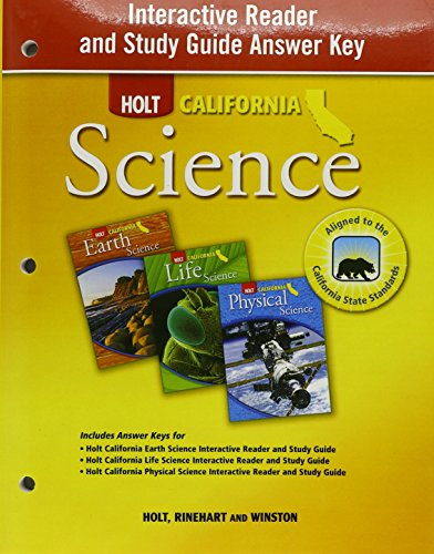 Holt Science & Technology California: Interactive Reader and Study Guide with Answer Key Grades 6-8 (Holt Science And Technology Grade 8 Answers)