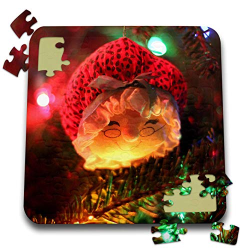 Stamp City - Holiday - Photograph of a Mrs. Claus Ornament Hanging from Our Christmas Tree. - 10x10 Inch Puzzle () - 3dRose pzl_292986_2