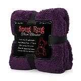 Purple - Snug Rug Special Edition Luxury Sherpa Fleece Snug Rug Throw Blanket - New & Exclusive Colour