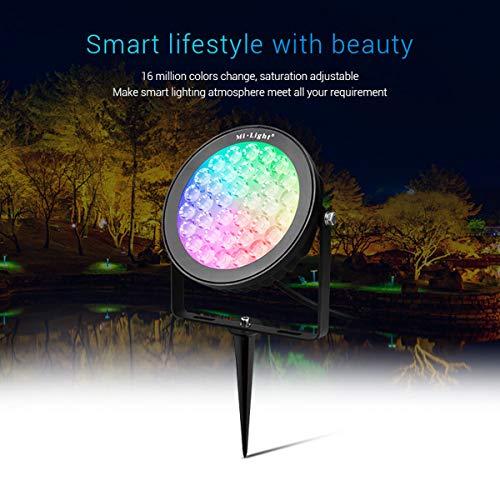 Bling Mi-Light 25W RGB+CCT Outdoor LED Garden Spotlight Touch Panel OR APP (25W AC110V RGB+Warm White+Cool White)