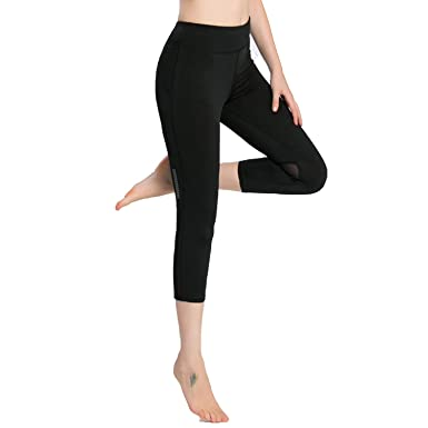 7d66362e4419ee New Mesh Capris Yoga Pants Women Dry Fit Sport Leggings Lady Fitness Gym  Training Running Tight