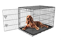 Carlson Pet Products Secure & Foldable Single Door Metal Dog Crate, Intermediate