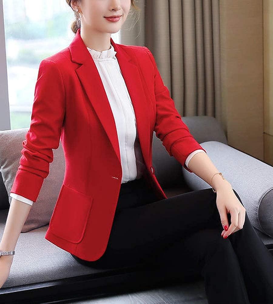 AnyuA Giacche da Abito,Donna Casuale Elegante Manica Lunga Blazer con Tasca