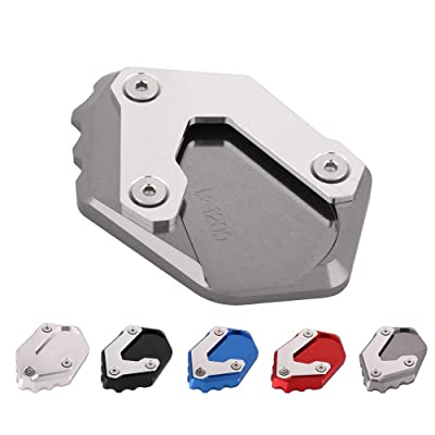AnXin Motorcycle CNC Kickstand Foot Side Stand Extension Pad Support Plate For BMW R1200 GS LC 2013 2014 2015 2016 2020 - Titanium: Automotive